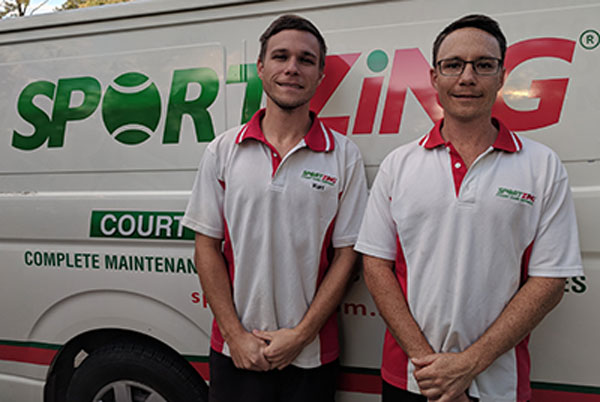 Gold Coast Tennis Court Cleaning Team Sportzing